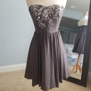 Rebecca Taylor embellished strapless dress